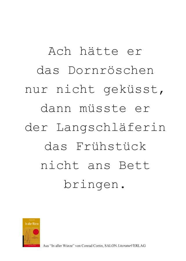 Conrad Cortin – Postkarte Bildmotiv Dornröschen