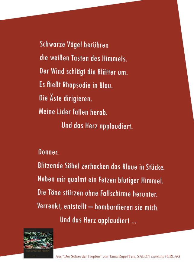 Tania Rupel Tera – Postkarte Schwarze Vögel